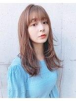 リコ(riko)可愛いミディアムレイヤー・抜け感ひし形シルエット【riko立野】