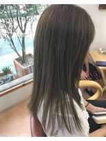 ヘアーヒーリングウィッシュ(Hair Healing Wish)透明感ヘアカラー オリーブカラー大人かわいいヘア[調布/国領]