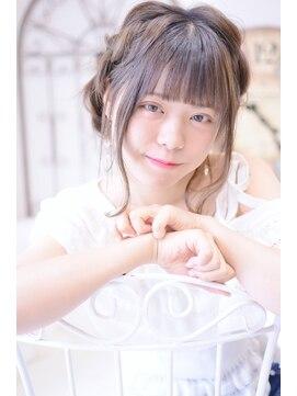 メイズ(MAZE)【メイズ東中野・鍛原志行】ミディアムの編み込みアレンジ