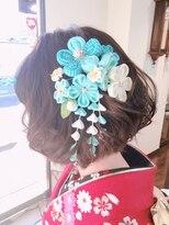 フェリーク ヘアサロン(Feerique hair salon)ミディアムボブの和装ヘアアレンジ