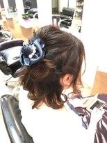 アビリティ ヘアー(ability hair)abilityhair 大人かわいいボブルーズハーフアップスタイル