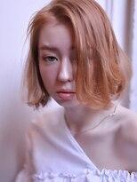 エイチ(H eitf)[エイチ原宿*RUKA] デザインカラー*オレンジベージュ*ボブ