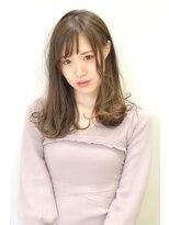 ヘアーサロン エール 原宿(hair salon ailes)(ailes原宿)style280 オン眉☆ファムヘアー