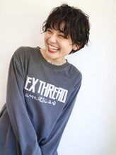 ソーイ ヘアー(soi hair)【soi・ソーイ】くせ毛っぽいパーマのカジュアルショート