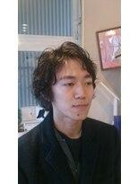 ヘアーズファイン(hair's fine)芸術家風メンズミディアム