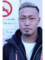 オムヘアーフォー(HOMME HAIR 4)外国人風サイドパートフェード【HOMME HAIR4 熊田】水道橋