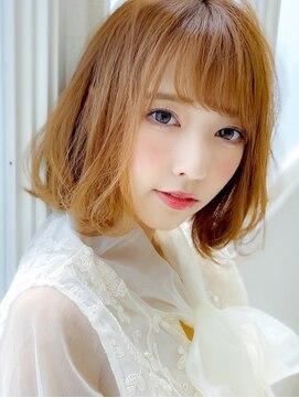 アグ ヘアー カイラ 白河店(Agu hair kaila)《Agu hair》小顔かわいいほつれウェーブボブ