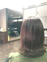 髪の美院 シャルマン ビューティー クリニック(Charmant Beauty Clinic)外ハネボブのレッドカラー