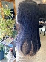 マイ ヘア デザイン(MY hair design)暗くても透けるダブルブルーカラー