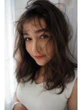 アリーズヘアー 青山(allys hair)大人かわいい ◆ クセ毛風無造作 ふわミディ