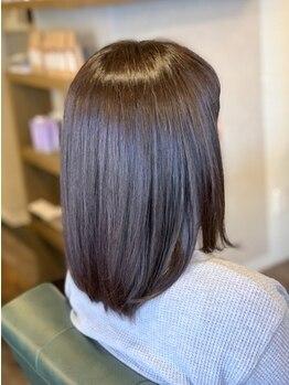 オクトヘアー プラス アドアス(octo hair+ adas)の写真/【総社/駐車場有】つい触りたくなる美髪♪理想のサラツヤ×ナチュラルなストレートヘアが叶う◎