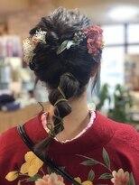 ココロ(HAIR CoCoro relaxation)袴着付け&編みおろしスタイル