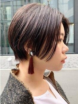 スミカ(sumika)の写真/《カット+トリートメント¥4,000》 ショートヘアは<sumika>のミリ単位カット!!顔周りのカットで小顔効果も♪