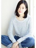ウル(HOULe)HOULe】黒髪×ワンレンロブ★コモダショウヘイ