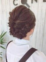 コネクトヘア(CONEKT hair)浴衣にも似合う編みこみスタイル♪