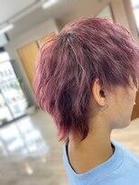 マッシュウルフ×ピンクヘア