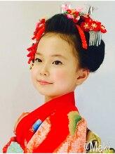 美容室 マキお子様のアップスタイル(日本髪風)