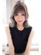 エイト 福岡天神店(EIGHT fukuoka)【EIGHT hair】くびれミディ×モーブカラー×ショート斜めバング