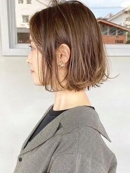 ヘアーワークスヴィクサス 諫早店(HAIR WORKS VIXUS)の写真/再現性の高いスタイルで毎日キレイで可愛い自分になれる!毛先に動きを出して最旬のこなれヘアに*