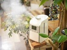 ◆店内空間◆ 常時、店内空間を除菌し、清潔な空気を保っています。