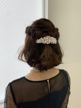 六本木美容室 白金店結婚式お呼ばれヘアアレンジ