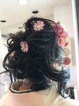美容室 セロリ成人式のヘアーセット(ルーズアップ)&振袖着付