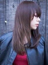 アクロスヘアーデザイン 武蔵小杉店(across hair design)うる艶 ダークニュアンスストレートスタイル