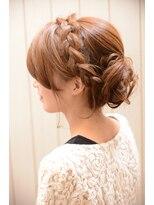 【miel hair blanc】結婚式やパーティーに☆編みこみセット