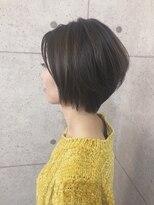 アールプラスヘアサロン(ar+ hair salon)シアーベージュ×丸みショート