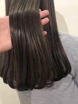 [オリーブグレージュ×oggi otto] グレージュ 地毛風カラー 暗髪