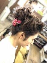 ヘアセットサロン アトリエ チャイ(Hair set salon atelier CHAI)お団子アップ