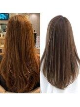 【髪質改善酸性ストレート】クセや広がりを矯正しハリコシのある艶髪に◎施術時間2時間から2時間30分