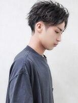 サイドパートショートツーブロ短髪パーマID@kousuke.kido