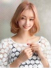 アグ ヘアー ピリカ 千歳店(Agu hair pirca)《Agu hair》ふんわりハイトーンカラーの内巻きボブ