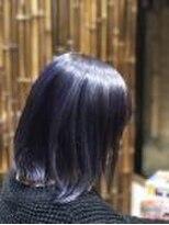 美容室 蓮(REN)ハイライトブルーカラー