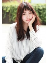 ダミアバイルル(DAMIA by LuLu)ショート前髪&ゆるふわセミロングで小顔効果アップ☆
