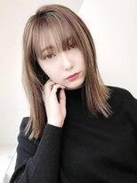 アルバム シンジュク(ALBUM SHINJUKU)ナチュラルストレート_スリークボブ厚めバングローライト_46931