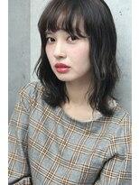 フェス カットアンドカラーズ(FESS cut&colors)【ふわミディ×明暗カラー】シルバーグレージュ『FESS 鶴丸』