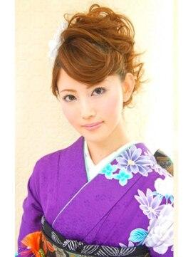 結婚式の髪型(ヘアアレンジ) リーゼント風ソフトモヒ♪