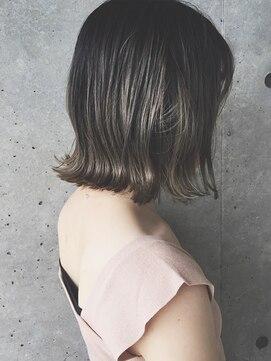 ロープヘアー 岐阜(ROPE hair)《ROPE》グレージュベージュカラー バレイアージュボブ