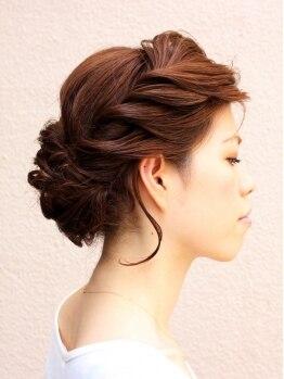 ヘアーサロン ミツル(HAIR SALON mitsuru+nuance)の写真/≪結婚式・参観日・お食事会etc♪≫特別な一日を華やかに彩るMitsuruのパーティーヘアセット☆