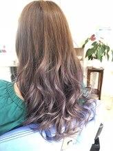 ヘアーアンドメイクガク(Hair&Make GAKU)パープルグラデーション