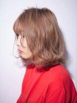 ジュール 銀座 ヘアラウンジ(Joule Hair Lounge)ミルクティーベージュ×ナチュラルボブ [銀座]