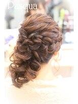 ヘアセットサロン パスクア(Hair Set Salon Pasqua)愛されふわふわサイドダウン