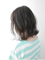 ヘアメイク オブジェ(hair make objet)ダークグレージュボブ