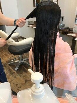 インディゴブルー 東金店(INDIGO BLUE)の写真/一人一人の髪質・お悩みに合わせて薬剤を選定。思わず触れたくなるようなサラサラヘアーへ☆