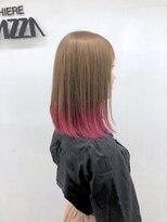 ラガッツァ(La ragazza)裾カラーピンク