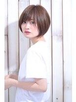 リビングユー(Livingu you)エアリーボブハイライトデザインカラー【切りっぱなしボブ】