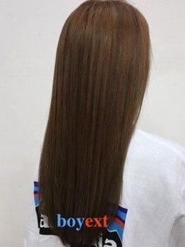 ボーイイーエックスティー(boyext)の写真/ナチュラルなストレートヘアを求めるお客様必見☆やりすぎ感のない憧れのストレートヘアに♪