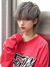 アルバム シンジュク(ALBUM SHINJUKU)メンズウルフ_カーキグレージュマッシュショート_98107